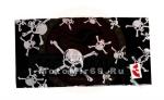 Платок байкерский универсальный (квадратной формы) (№4) (Черепа с костями БЕЗ вензелей, белые на чер