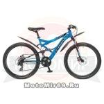 Велосипед 26 STINGER VERSUS (2х подвес.,21ск,рама 16,18,20, TY10/TY300/EF41) синий