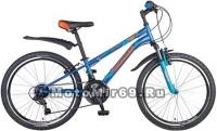 Велосипед 24'' NOVATRACK EXTREME (6ск,МТВ,рама ст.10,TY21/RS35/TZ21, V-brake) 117098 синий