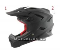 Шлем вело кроссовый CIGNA T-42, черный размеры S