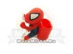Фигурка Человек-Паук, С КАРМАНОМ забавная, декор мото универсальный (на присосках) красный