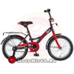 Велосипед 18 NOVATRACK STRIKE (ножной тормоз, цветные крылья, багажник черный) 126758 черно-красный
