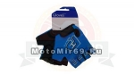 Перчатки вело STG летние с защитной прокладкой,застежка на липучке, XL,синие