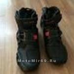 Ботинки мото облегченные, низкие, черные, р-р 47 (44-45) (A09001)