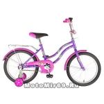 Велосипед 18 NOVATRACK TETRIS (торм.нож.,крылья цвет., багажник хром) 126754 фиолетовый