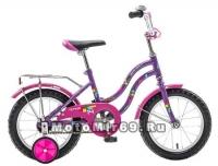 Велосипед 14'' NOVATRACK TETRIS (1ск,торм.нож,крылья цвет,сидение для кукл) 098571 фиолет