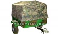 Прицеп для мотовездехода ПМ, съемные борта, кузов 1350х1050х325 мм, 300кг, фаркоп, колеса 8 (Россия)