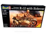 Модель мотоцикла с коляской (R-12, 1:35) (03090)