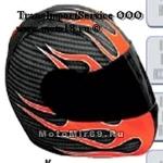 Обтяжка шлема HELMET SKINZ, рисунок FLAME RD (синтет., защищает шлем, меняет внеш.вид, легко снять)