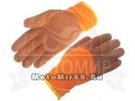 Перчатки ЗИМНИЕ АКРИЛОВЫЕ С ПЕННЫМ ЛАТЕКСО-НИТРИЛОМ (цвет Оранжевый облив коричневый))