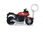 Брелок Модель мототехники (КС002) ПВХ, дорожный мотоцикл типа ХОНДА