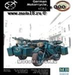 Модель для конструирования немецкого мотоцикл BMW R-75, 1:35 (на обложке синий)(МВ3528)