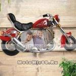 Рамка для фото, классический мотоцикл, внуть можно поместить ФОТО