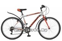 Велосипед 26 STINGER DEFENDER (6ск, рама 18 сталь, торм.V-Brake,TY21/RS35) серый 117280