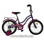 Велосипед 16'' NOVATRACK TETRIS (1ск, тормоз нож., крылья цвет, багажник хром) 124269, фиолетовый