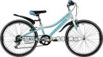 Велосипед 24 NOVATRACK ALICE (рама ст.10, 6 ск,TY21/RS35/SG-6SI, V-brake) 134074 голубой