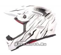 Шлем вело кроссовый CIGNA T-42, белый с черным размеры М
