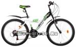 Велосипед 24 FORWARD DAKOTA (18 ск,рама сталь 13, ал. обода, тормоз V-brake) белый/фиолет,зел
