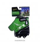 Перчатки вело, цвет черный с зеленым, размер L