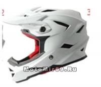 Шлем вело кроссовый CIGNA T-42, белый размеры L