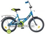 Велосипед 16 NOVATRACK URBAN (1ск,рама сталь,тормоз нож.,цвет.крылья, баг.хром) синий