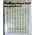 Стразы (набор кристаллов), 17x9 (=153) штук 4 мм - на лип. основе, для декора, св.зеленый бирюзовый
