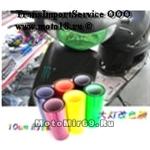 Пленка КРАСНАЯ тонировочная для оптики (скутер/мопед) 300х300