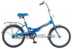 Велосипед 20'' FS-30 NOVATRACK (складной,1ск,торм.V-Brake, багаж.,зв.) синий