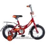 Велосипед 12 NOVATRACK VECTOR (торм.ножной, крылья и багажник хром) 125961, красный