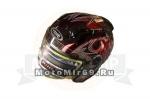 Шлем открытый YM-616 YAMAPA каска с АНТИкрылом, размер L,(СКУТЕРСКОЙ ШЛЕМ)(СНЯТ С ПР-ВА)