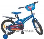Велосипед 16 NOVATRACK FLIGHTINE (тормоз нож., крылья и багажник хром) синий