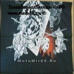 Платок-трансформер типа BUFF(как Евро). рис. Череп, розы (платок, шарф, бандана, на руку и т.п.)