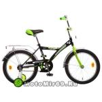Велосипед 18 NOVATRACK ASTRA (1ск, рама сталь,тормоз ножной, багаж.хром,зв) чёрный