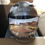 Шлем открытый Safelead LX-255В колобки Honda Grey размер L