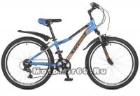 Велосипед 24 STINGER BOXXER (21ск,рама ал.хард14,торм.мех.диск,TZ30/TY21/TS-38) синий
