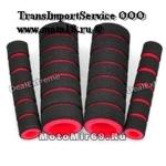 Чехольчики на рычаг сцепления/тормоза (черно-красный, материал губка, 1 компл - 4 шт)