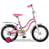 Велосипед 14'' NOVATRACK TETRIS (1ск,торм.нож,крылья цвет,сидение для кукл) 126734 розовый