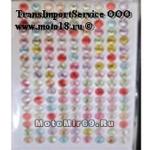 Стразы (набор кристаллов), 17x9 (=153) штук 4 мм - на лип. основе, для декора, разноцветные