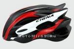 Шлем вело CIGNA WT-015, размер M/L (57-62 cm) (черно-бело-красный)