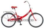 Велосипед 24'' FS-24 NOVATRACK (складной,1ск,торм.ножной,багаж,звонок) 135057, красный