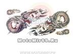 Татуировка временная (набор) YM263 (легко наносится (30 секунд), Зеркально отраженные драконы)