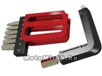 Набор инструментов SUPER B 9885 карманный, 8 в 1: шестигранники 3/4/5/6/8мм, Т25, отвертки +/-