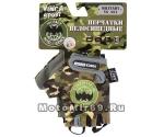 Перчатки вело детские, Military, гелевые вставки,цвет зеленый, размер 4XS