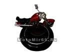 Пепельница в виде колеса, с мотоциклом №2 (13 см) item 11044