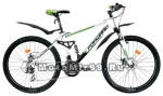 Велосипед 26 FORWARD TERRA 2.0 disk (2х подвес.,21 ск,рама 16 сталь, торм.мех.диск) бел./черн.