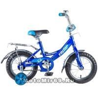 Велосипед 12 NOVATRACK VECTOR (торм.ножной, крылья и багажник хром) 125962, синий