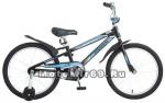 Велосипед 20 NOVATRACK DODGER (1ск,рама ал.,тормоз нож.,короткие крылья,нет баг.) 134037 черный