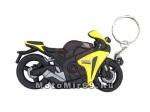 Брелок Модель мототехники (КС013), ПВХ, спортбайк черный с желтым