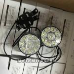 Фара светодиодная, круглая, диаметр 7 см, с кронштейном, 12V (можно использовать парой как DRL)