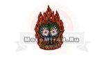Нашивка Toxico Almera (мексиканская чудилка в пламени) 03541109 НАКЛЕИВАЕТСЯ УТЮГОМ